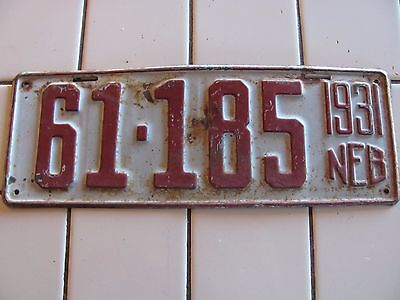 antique NEBRASKA License Plate 1931 Sheridan County