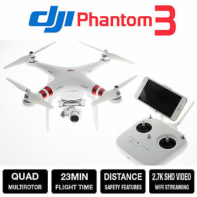 New DJI Phantom 3 Standard Quadcopter Drone with 2.7K Camera and 3-Axis Gimbal