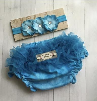 Baby Bloomer Set, Flower Headband And Bloomers, Baby Bloomer Baby Outfit
