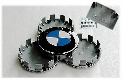 4 x 68mm Blue & White BMW wheel caps complete Brand New 5, 3, 1