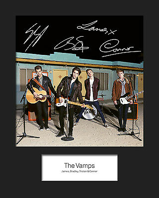 THE VAMPS #3 10x8 SIGNED Mounted Photo Print - FREE DELIVERY