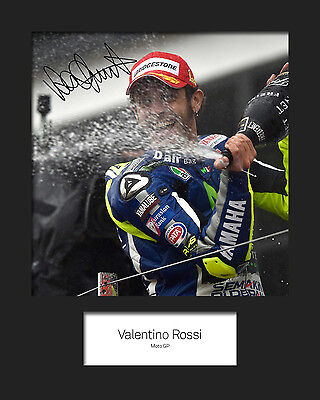 VALENTINO ROSSI #2 Signed 10x8 Mounted Photo Print - FREE DELIVERY