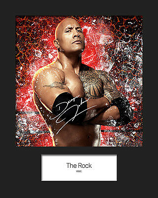 THE ROCK #3 (WWE) Signed 10x8 Mounted Photo Print - FREE DELIVERY