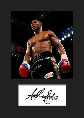 ANTHONY JOSHUA - Signed Photo A5 Mounted Print - FREE DELIVERY