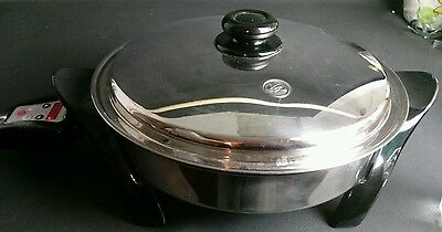 """Saladmaster 304/316L Surgical Stainless  Electric Skillet SA010OCU 1200w 12"""""""