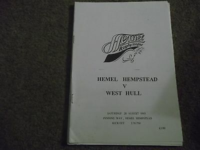 1993 Rugby League National Conference Hemel Hempstead V West Hull 28Th Aug 1993