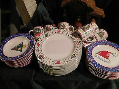 Bloch Basics ~ Christmas Party ~ Dish Set ~ Mint Condition ~ China Collection