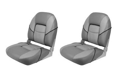 Boat Seat Deluxe Folding Padded Grey Top Quality Relaxn Marine Chair x2