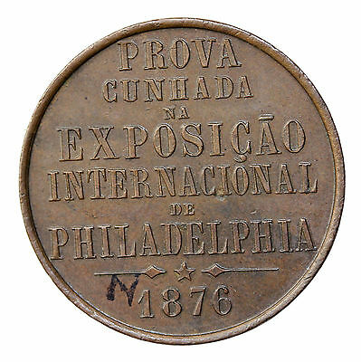 1876 Brazil At The United States Centennial Exhibition Philadelphia Medal