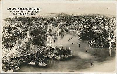 Panama Canal Scale Model The Zone Real Photo Postcard Panama Pacific Expo PPIE