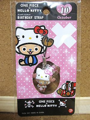 Hello Kitty X One Piece Chopper Phone Strap Charm Mascot Figure October ver.