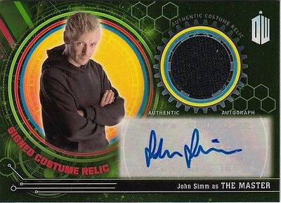 Doctor Who Extraterrestrial Encounters - John Simm Autographed Costume Card 4/5