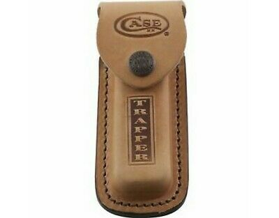 "Case 980 Trapper Leather Sheath Brown Leather Stamped Logo 5"" Overall"