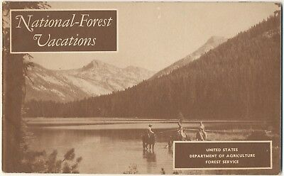 1955 National Forest Vacations Booklet 64 Pages