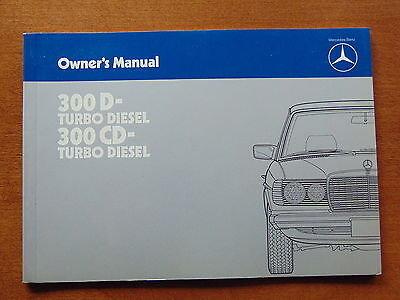 1984 Mercedes Benz 300D/300CD Factory Owners Manual - W123-Discontinued
