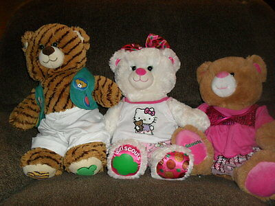Lot of 3 Build a Bear - all Girl Scouts Coconut Carmel Cookies 100th anniv