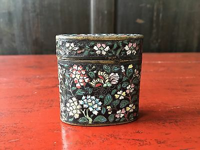 Late 19th Cent Chinese Cloisonné Opium Container