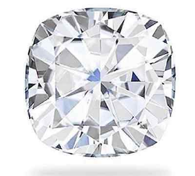 Forever Brilliant Moissanite 9.00mm 3.30CT Cushion Cut Charles and Colvard