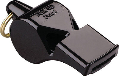 Fox 40 FO09080 Pearl Safety Whistle Black Casing with Keyring