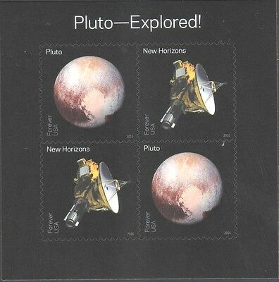 Astronomy Us New 2016 Pluto -- Explored 4 Mvf Forever Stamp Souvenir Mini Sheet