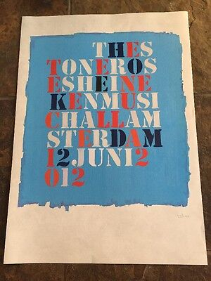 The Stone Roses - Amsterdam Lithograph gig poster, June, 2012