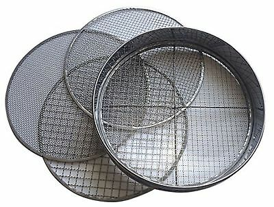 Practicool Stainless Steel Garden Potting Sieve / Riddle - with 4 interchange...