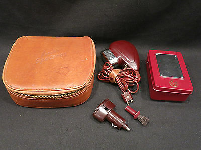 Vintage Norelco Battery Sportsman Automobile Razor Set Case Charger Euc