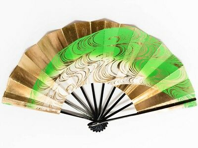 Vintage Used Japanese Odori 'Maiogi' Folding Dance Fan from Kyoto Design: BNovM