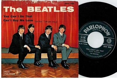 THE BEATLES You can't do that 45rpm 7' + PS 1964 ITALY MINT-