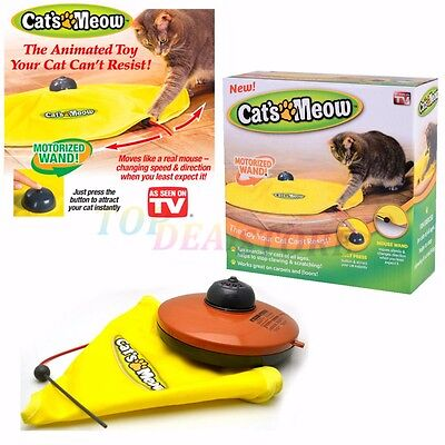 New Electronic Interactive Cats Cat's Meow Toys Undercover Fabric Moving Mouse