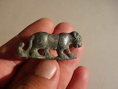 Roman bronze brooch in shape of animal - silvered