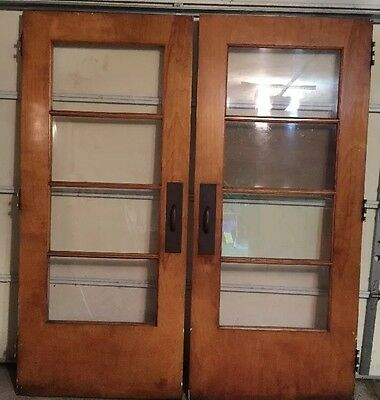 "Vintage 1950s Interior French Doors 36""Wide 82"" Long"