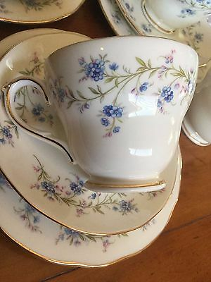 """Vintage English China Trios / Teaset - Duchess """"Tranquility"""" - 18 Pieces"""