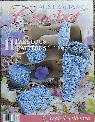 Australian Crochet Pattern Book With 11 Lovely Patterns-Afghan,place Mats,purse