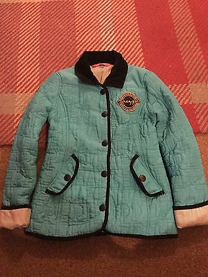 GIRLS PINEAPPLE JACKET - vgc- age 8-9 - BLUE