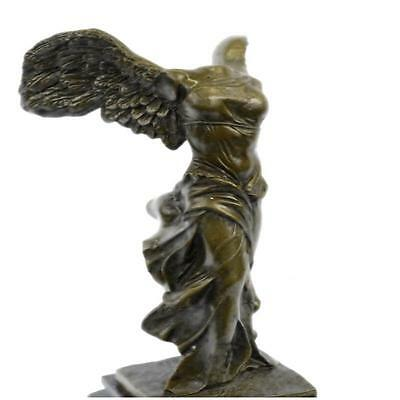 HandcraftedBronze /Marble Classical Nike Of Samothrace Victory Sculpture A