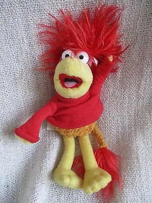 FRAGGLE ROCK - Red beanie bean plush soft toy VGC Muppets Muppet Show Jim Henson