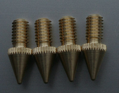 - British Made - Speaker Spikes-M6 Solid-for HIFI racksAndSubWoofers --Brass--