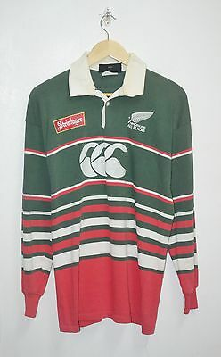 VINTAGE 90s ALL BLACKS CANTERBURY NEW ZEALAND STEINLAGER RUBGY JERSEY