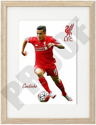 Coutinho A4 Poster Truly Unique Image Liverpool Fc 2016 Anfield Brazil