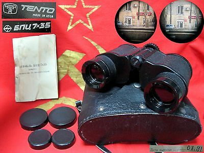 Soviet Russian Binoculars BERKUT-7 BPC 7X35 USSR made in Soviet Union 1991