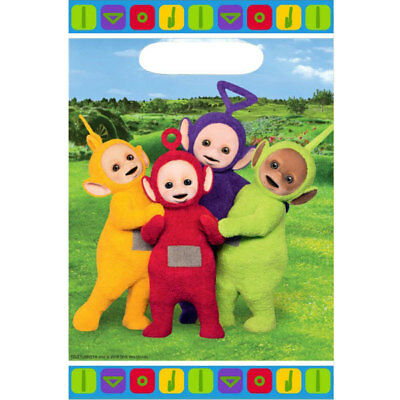 Teletubbies Birthday Party Supplies Lolly Loot Treat Favour Bags Pk8 Licensed