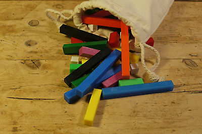 Cuisenaire Style Rods - Brand New - Introductory Set in Cloth Bag