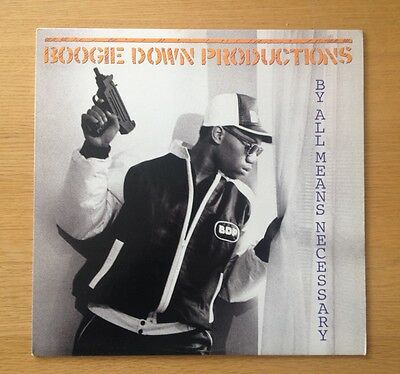 BOOGIE DOWN PRODUCTIONS - By All Means Necessary original US vinyl LP 1988