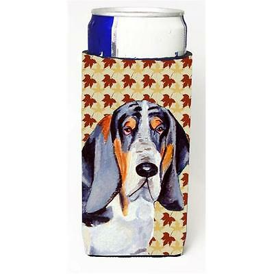 Basset Hound Fall Leaves Portrait Michelob Ultra s for slim cans