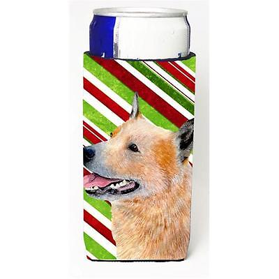 Australian Cattle Dog Candy Cane Holiday Christmas Michelob Ultra bottle slee...