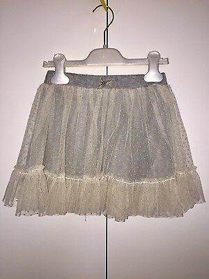 Gonna Twing-Set bambina colore grigio in tulle Tg 8 anni