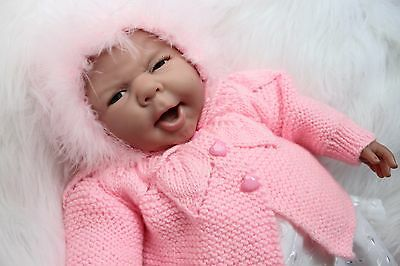 """'Sadie'  - Hand-Knitted Outfit for Reborn Doll (22"""" long) m4d116"""
