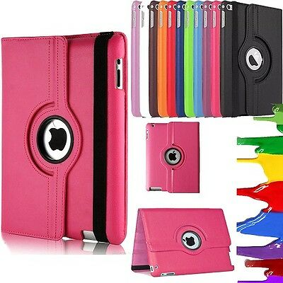 360 Degree Rotation Smart Leather Stand Case Cover For iPad Air 2 3 4 Mini Pro