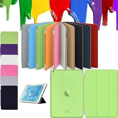 Magnetic Thin Smart Slim Leather Stand Case Cover For iPad Air 2 3 4 Mini Pro